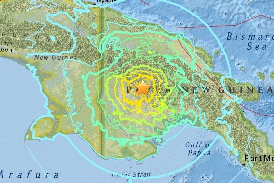 Тлото се тресе: Силен земјотрес ја погоди Папуа Нова Гвинеја