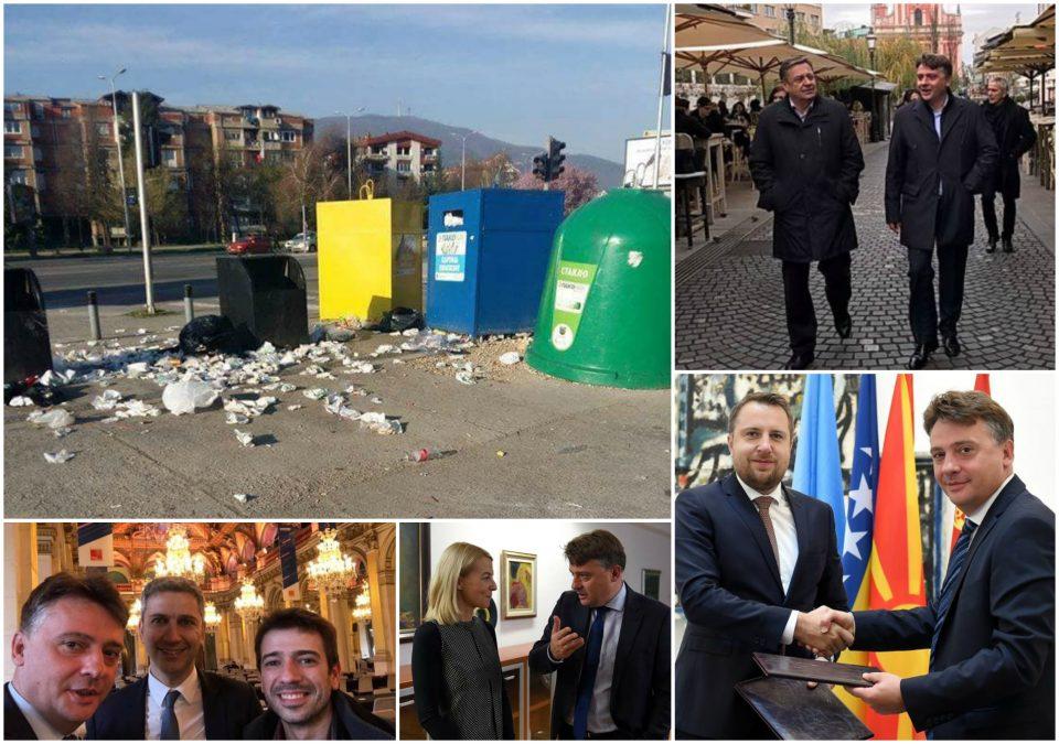 Додека Шилегов се шета низ Европа, Скопје тоне во смет (ФОТО)