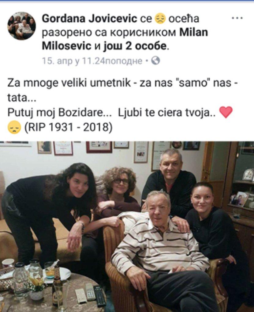 Ќерката на големиот великан Боки скршена од тага: Со потресна порака и фотографија се прости од татка си