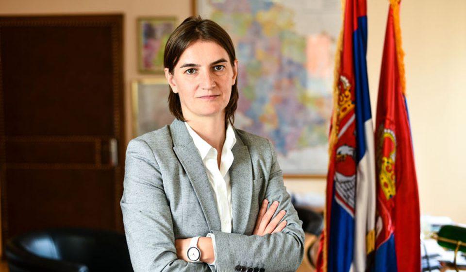 Брнабиќ: Ќе предоложам задолжително носење маски во затворен простор во цела Србија