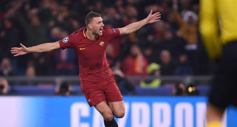 Ерупција на стадионот: Џеко и носи водство на Рома против Барселона