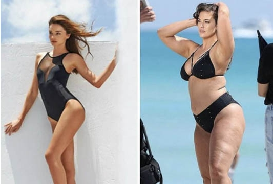 Таа е модел со вишок на килограми: Грејм го возврати ударот на тие што се подбиваат со нејзината тежина (ФОТО)