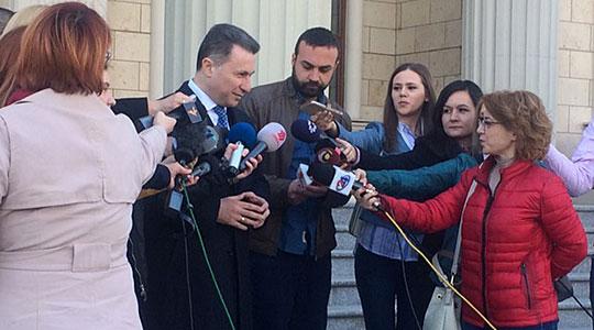 """Груевски: Да имаше """"Д"""" од доказ против мене за 27 април одамна немаше да бидам тука"""
