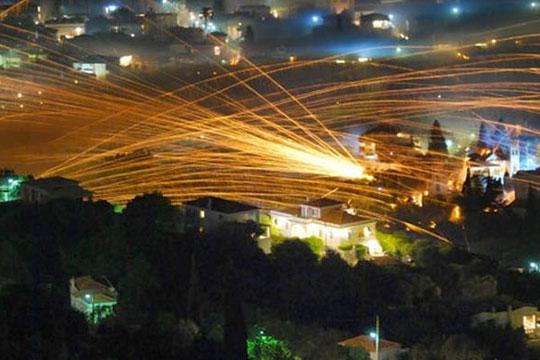 """На грчкиот остров Хиос подготвени за вечерашната """"војна со ракети"""""""