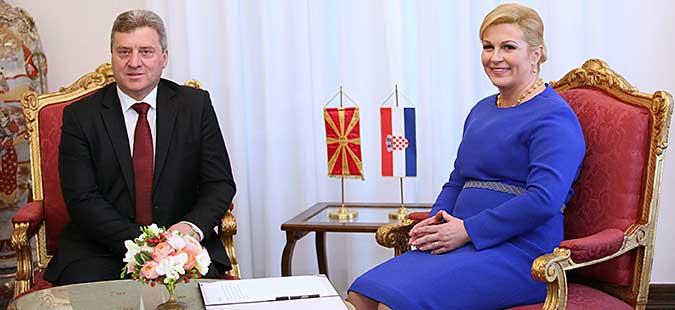 Хрватската претседателка Грабар-Китаровиќ во посета на Македонија