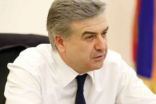 Карен Карапетjан ќе ја извршува премиерската функција во Ерменија