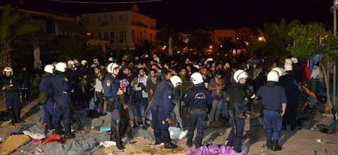 Инциденти на грчкиот остров Лезбос