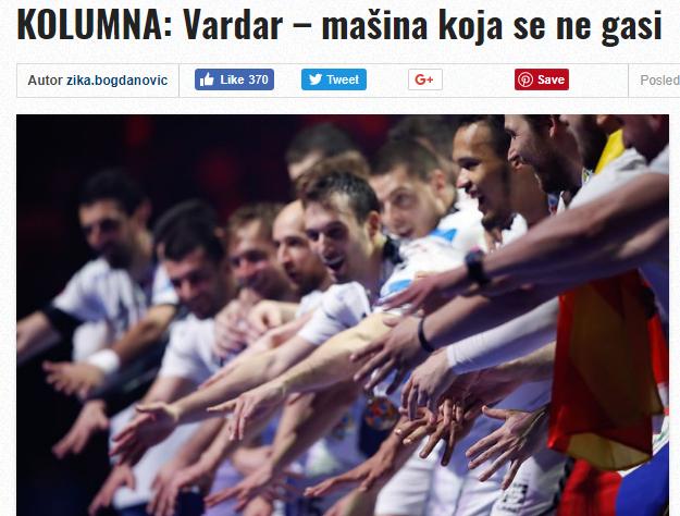 """Колумна на """"Балкан-Хендбол"""" по натпреварот Кил- Вардар која мора да ја прочитате"""