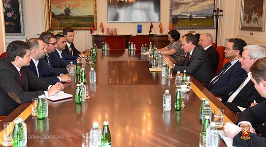 Лидерот на ВМРО-ДПМНЕ Мицкоски се сретна со Делегација од Бундестагот