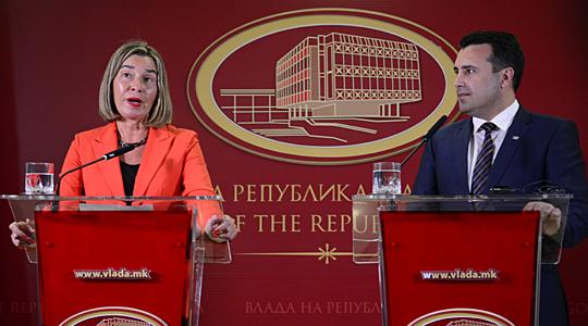 Могерини: Оптимист сум дека е можно решение за името до Самитот на ЕУ