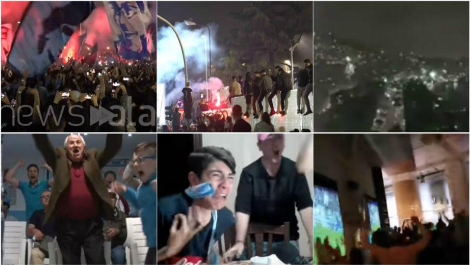 Во Неапол победата над Јувентус се славеше како титула: Улиците гореа, фудбалерите на Наполи добија спектакуларен пречек (ВИДЕО)
