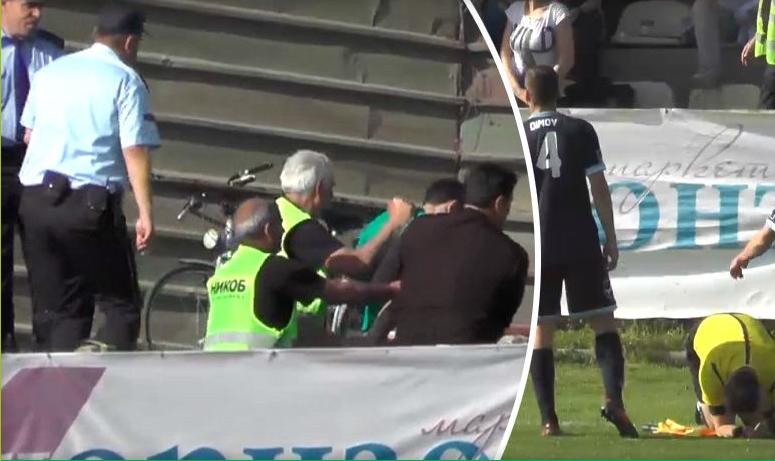 ВИДЕО: Навивач на Пелистер приведен откако со тврд предмет го погоди судијата во глава