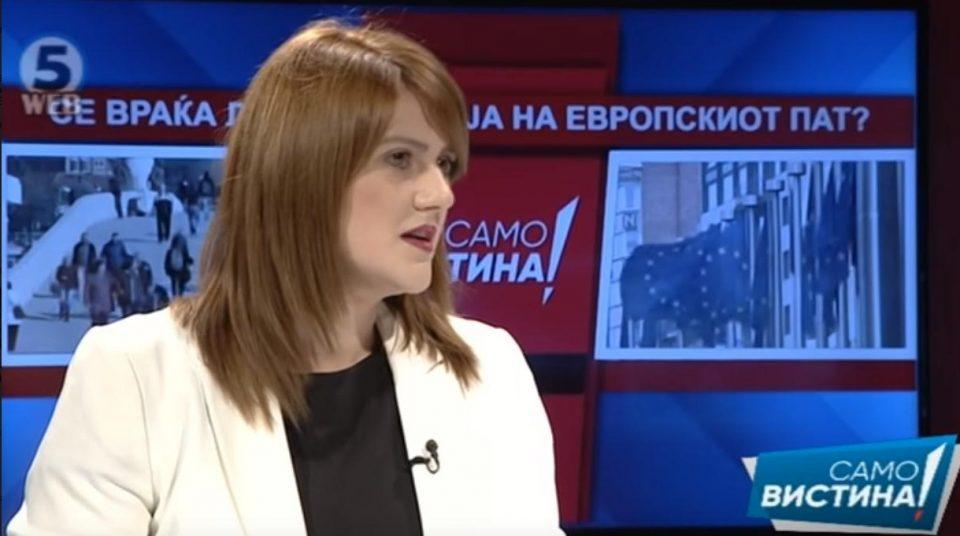 Стаменковска: Заев изјави дека администрацијата е неспособна, а доби безусловна препорака благодарение на тие луѓе