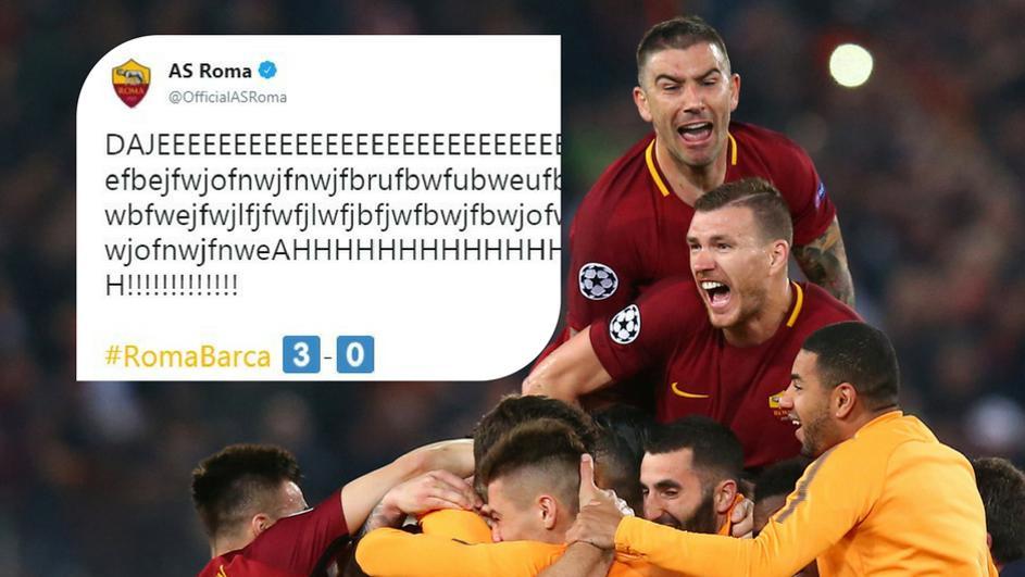 Кога главата ќе падне над тастатурата: Рома го има најлудиот фудбалски твит