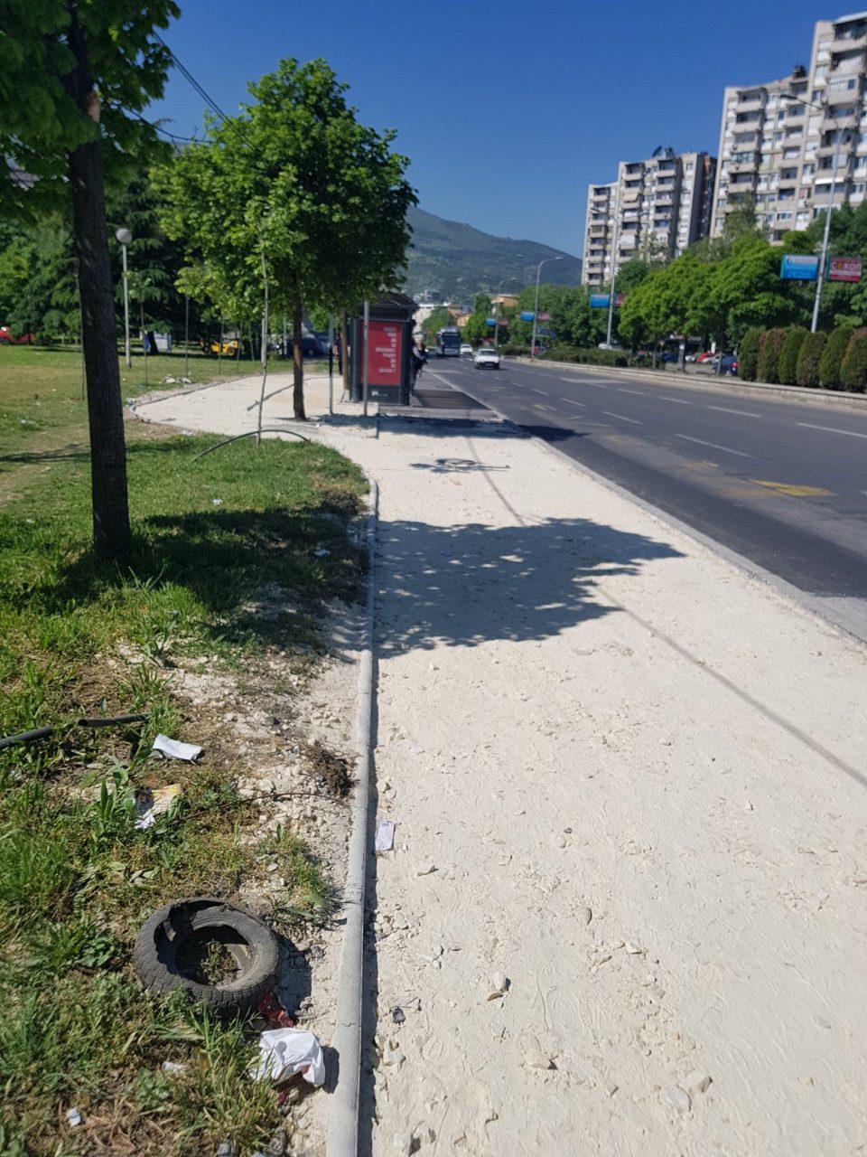 Предлог за Гинис: Град Скопје гради тротоар со просечна брзина помала од 1,5 метар на ден