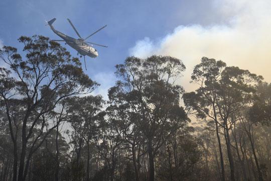 Стотици пожарникари се борат со огнена стихија близу Сиднеј
