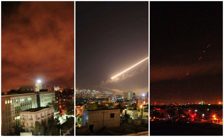 ВИДЕО: Како Сирија собори 71 од 103 ракети кои ги испалија САД и сојузниците