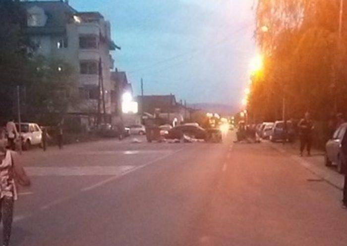 Со контејнери блокиран сообраќајот во Ѓорче по тешкиот инцидент