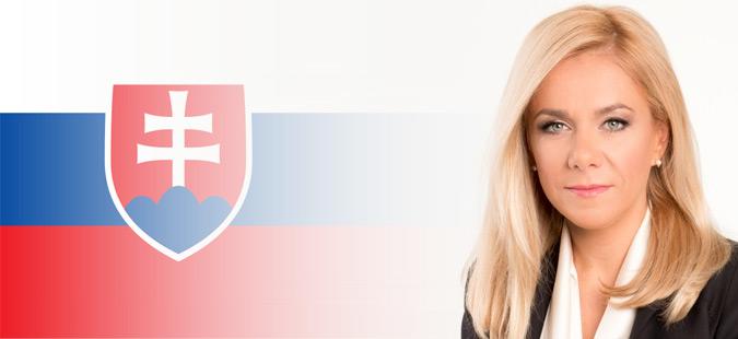 Именувана нова министерка за внатрешни работи на Словачка