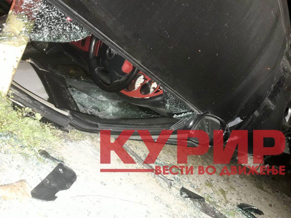 """Фотографии од тешката сообраќајка на """"Првомајска"""""""