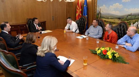 Заев оствари средба со претставници на судската полиција
