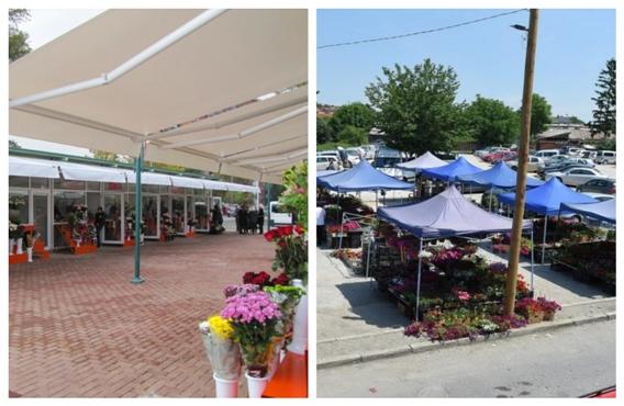 ФОТО: Разликата кога отвораат цветни пазари Коце Трајановски и Петре Шилегов