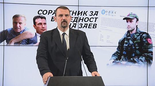 """Стоилковски: Издавањето безбедносен сертификат од највисок степен """"Државна тајна"""" на Командант Хоџа е кривично дело"""