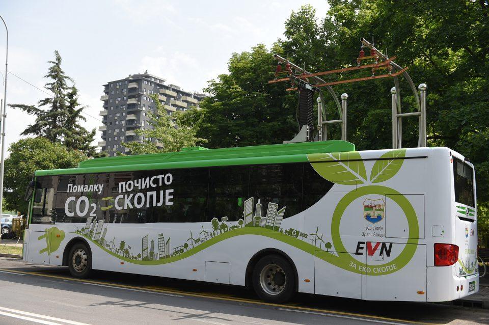 Фото: Еден електричен автобус од денеска ќе вози на линијата со број 15 во наредниве 6 месеци