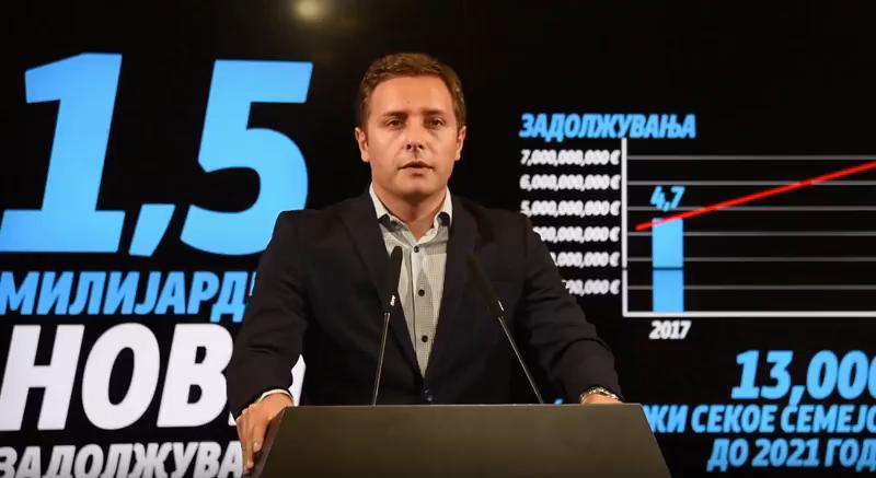 Арсовски: На Македонија и се заканува економска катастрофа со Заев и Тевдовски, јавниот долг ќе се зголеми на 6,1 милијарди евра до 2021