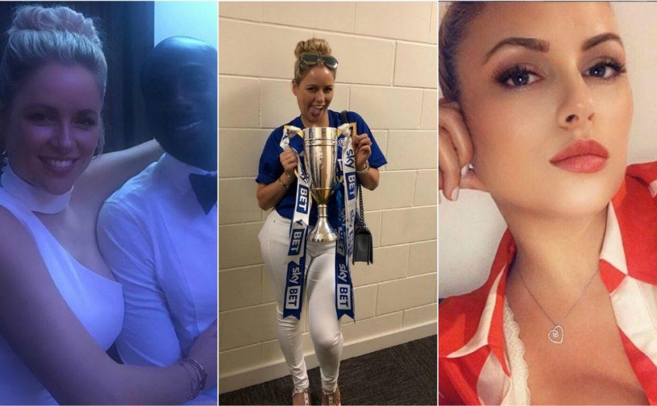 ФОТО ГАЛЕРИЈА: Нејзиниот маж доаѓа во Премиер лигата, ама таа е главен хит кај фановите