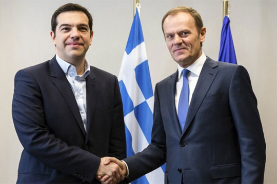 Телефонски разговор Ципрас- Туск во пресрет на Самитот во Софија