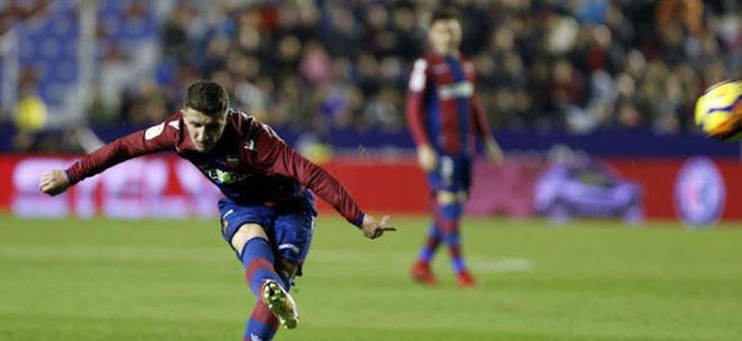 Барди одигра еден час за Леванте во триумфот над Барселона