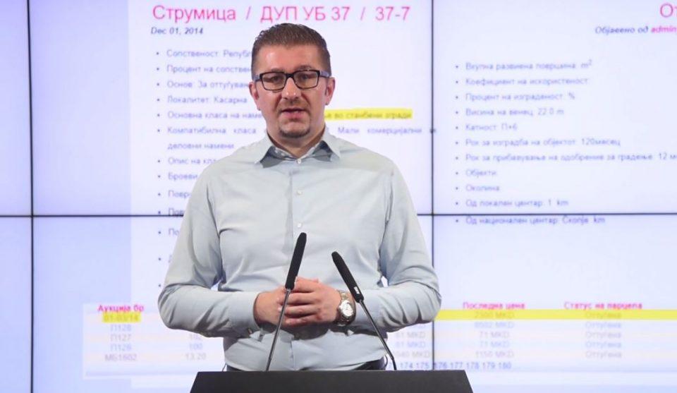 Мицкоски: Зоран Заев продал земјиште кое завршило во рацете на Вице Заев