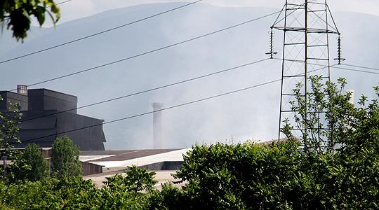 """Поради пожарот во """"Макстил"""" зголемени концентрации на ПМ 10 честички"""