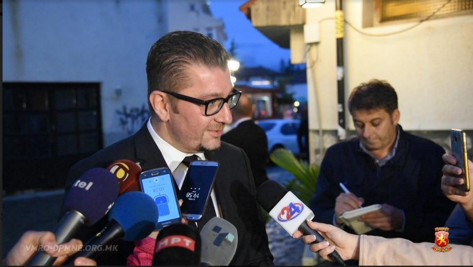 Мицкоски: Да почекаме на лидерската средба, да видиме што се предлозите, мене ми се допаѓа Република Македонија