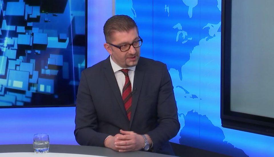 Интервју на Мицкоски за словенечката Нова 24 ТВ: ВМРО-ДПМНЕ нема да поддржи промена на Устав, а со цел промена на уставното име