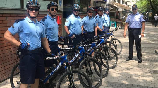 """Промовиран проектот """"Полицајци – велосипедисти"""" во општина Центар"""