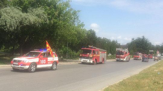 Парада на противпожарни возила во Кавадарци (ФОТО)