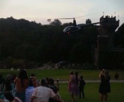 На свадба падна хеликоптер со невестата (ВИДЕО)