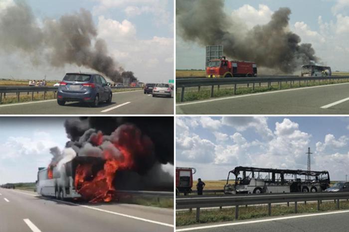 """""""Се крена паника, спасувавме живи глави"""": Детали за автобусот кој се запали на автопат (ВИДЕО)"""