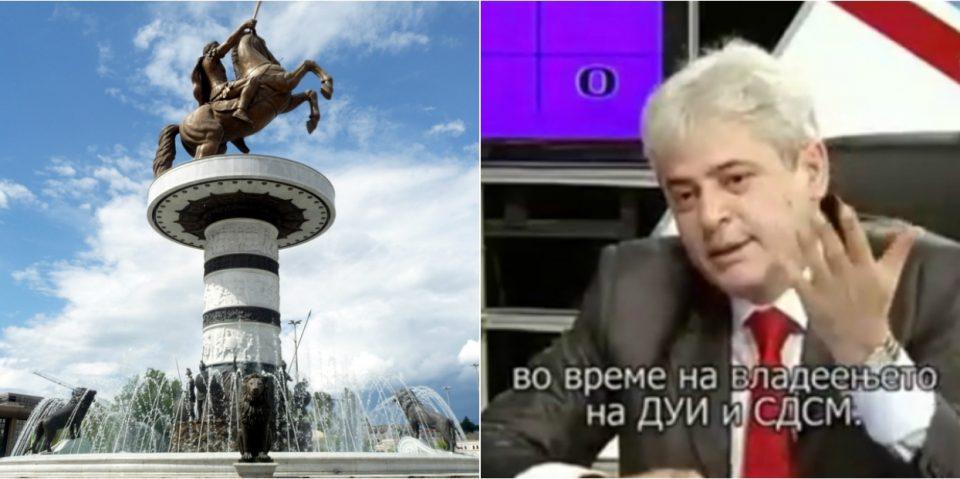 """Споменикот """"Воин на коњ"""" бил договорен од СДСМ и ДУИ: Александар Македонски во минатото за СДСМ беше најголем македонски крал"""