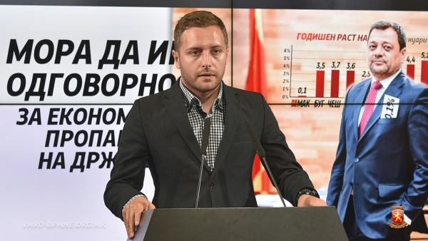 Арсовски: Државата економски пропаѓа, Анѓушев веднаш да си поднесе морална оставка
