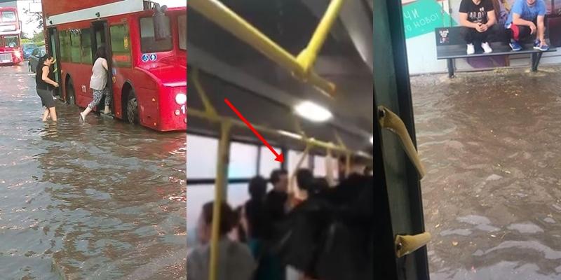 Нов хит на интернет: Откако вчера не можеше да се влезе во автобус поради дождот, денес граѓаните со нова мака во автобусите (ВИДЕО)