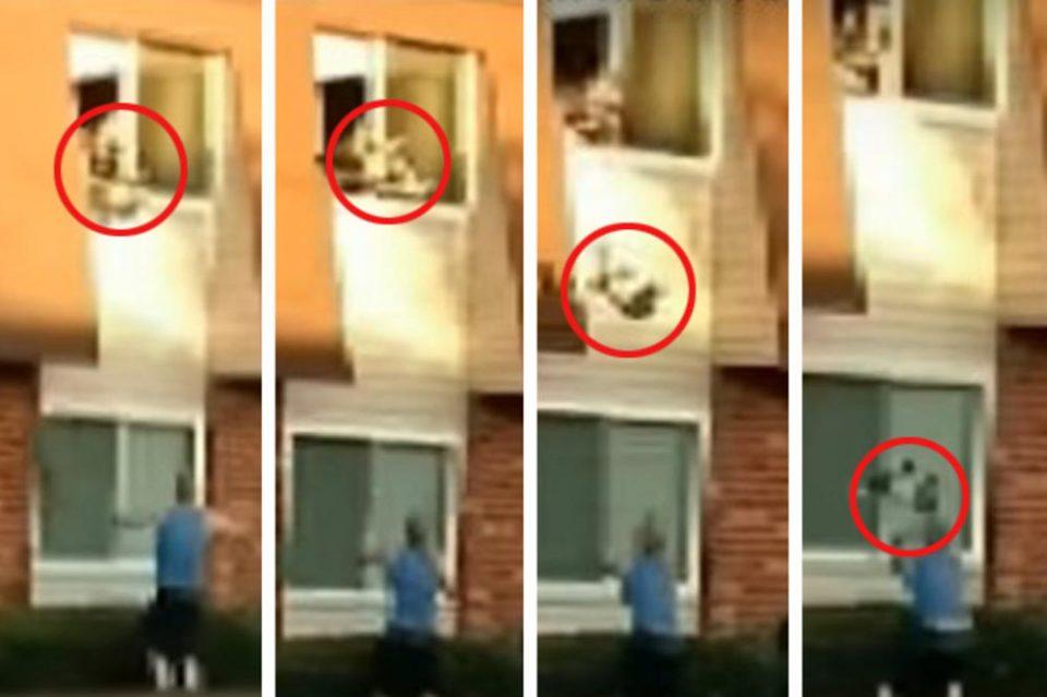 Страшен пожар голташе цела зграда: Мајка фрли бебе од прозор и скокна по него, а сосед направи вистинско чудо (ВИДЕО)