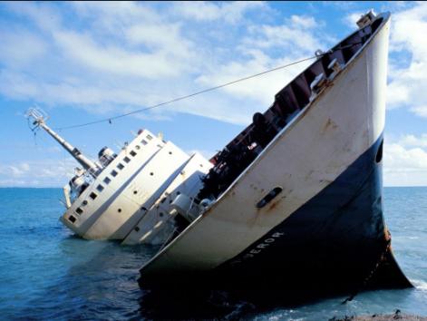 Брод тоне во Јадранско море
