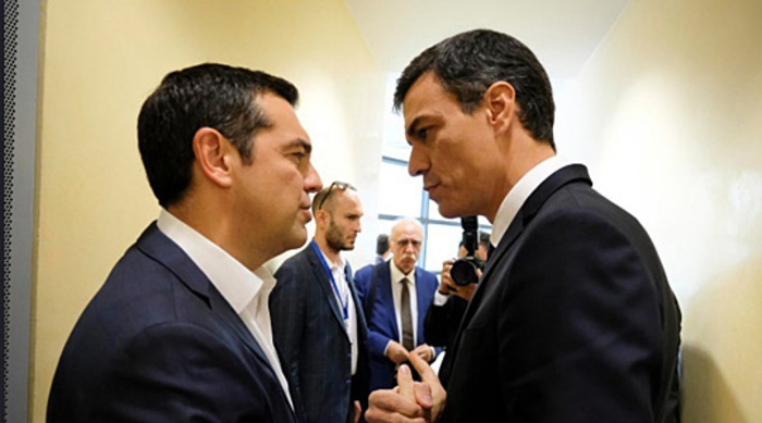Санчез му честитал на Ципрас за договорот со Македонија