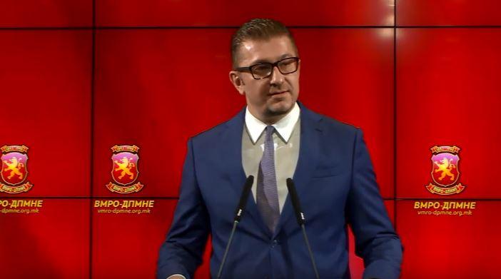 Мицкоски: ВМРО-ДПМНЕ ќе се спротивстави со сите демократски и правни средства против овој капитулантски договор