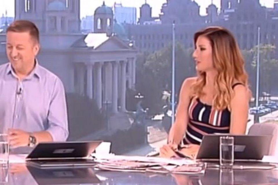 Во живо во утринска програма куче направи хаос: Сопругата на Жељко Јоксимовиќ во страв скокна од столче (ВИДЕО)