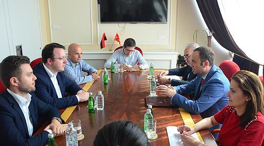 Османи го презентирал Планот 18 пред претставниците на ВМРО-ДПМНЕ