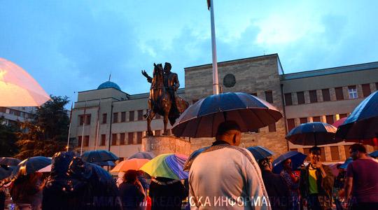 Втор ден протести во Скопје против договорот со Грција